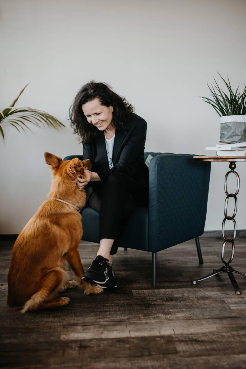 Business Mentoring - Maren Ehlers mit Hund