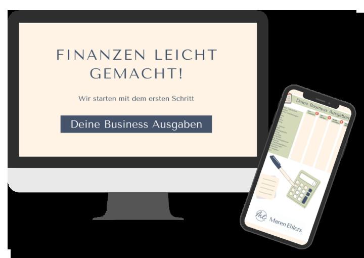 Finanzen leicht gemacht - Freebie - Vorlage für Business Ausgaben - Maren Ehlers