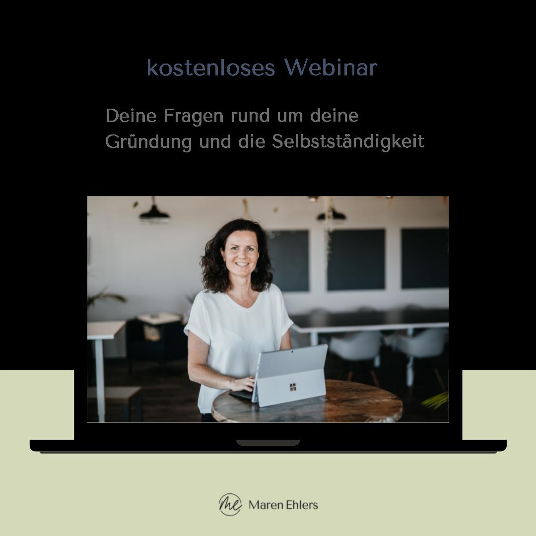 Maren Ehlers - Existenzgründerberatung - Webinar für Gründer:innen